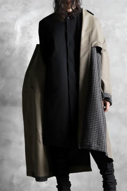 ATTACHMENT by KAZUYUKI KUMAGAI Soutien Collar Coat [THIN DOWN / STRETCH TAFFETA]
