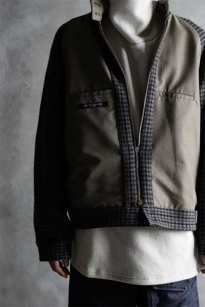 KAZUYUKI KUMAGAI Band Collar Blouson [Gun Club Tweed x Burberry]
