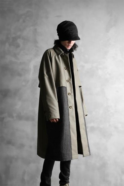 KAZUYUKI KUMAGAI Soutien Collar Coat [Gun Club Tweed x Burberry]