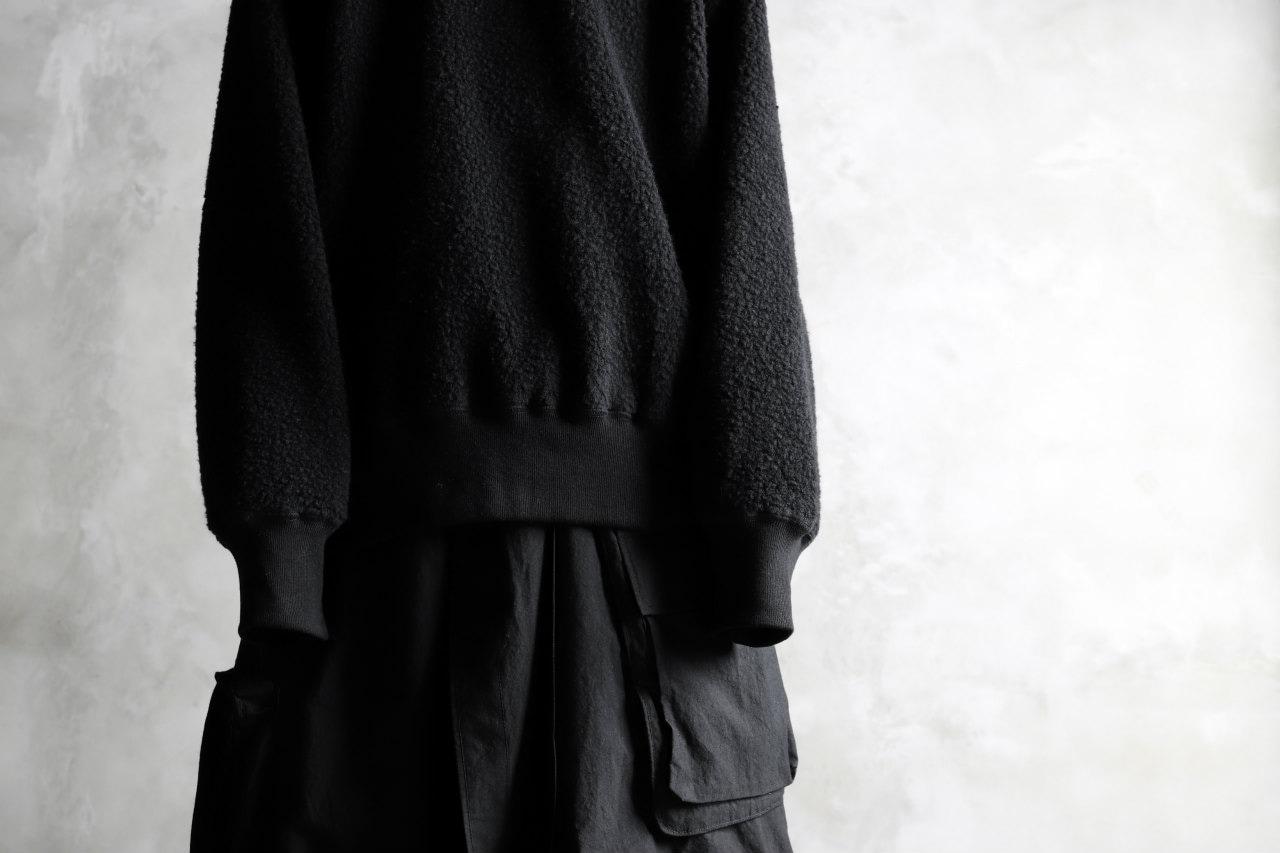 KAZUYUKI KUMAGAI Reversible Long Sleeve Sweat Top [CASHMERE MOUTON URAKE]