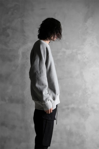 KAZUYUKI KUMAGAI Reversible Long Sleeve Sweat Top [CASHMERE MOUTON URAKE]