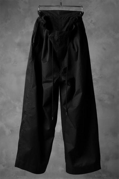 KAZUYUKI KUMAGAI High Waist Easy Wide Trousers [High Density Satin]