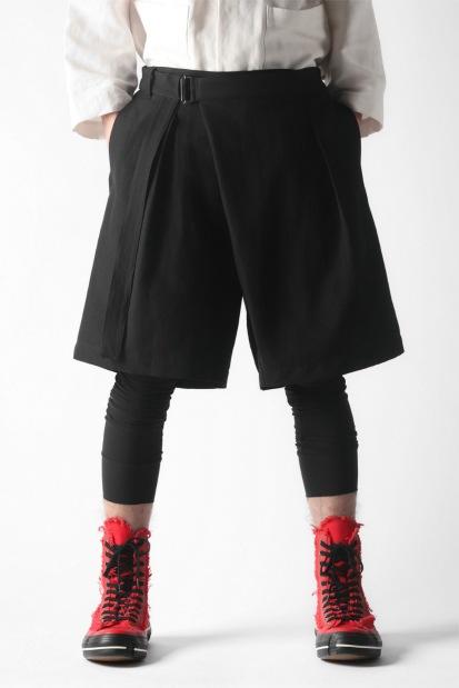 KAZUYUKI KUMAGAI Wrap Wide Shorts [ Strong Twist Co/Li Ox ]
