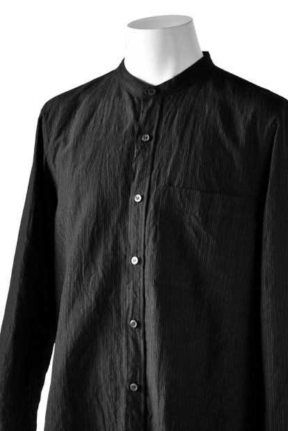 KAZUYUKI KUMAGAI Band Collar Shirt [Pin Striped]