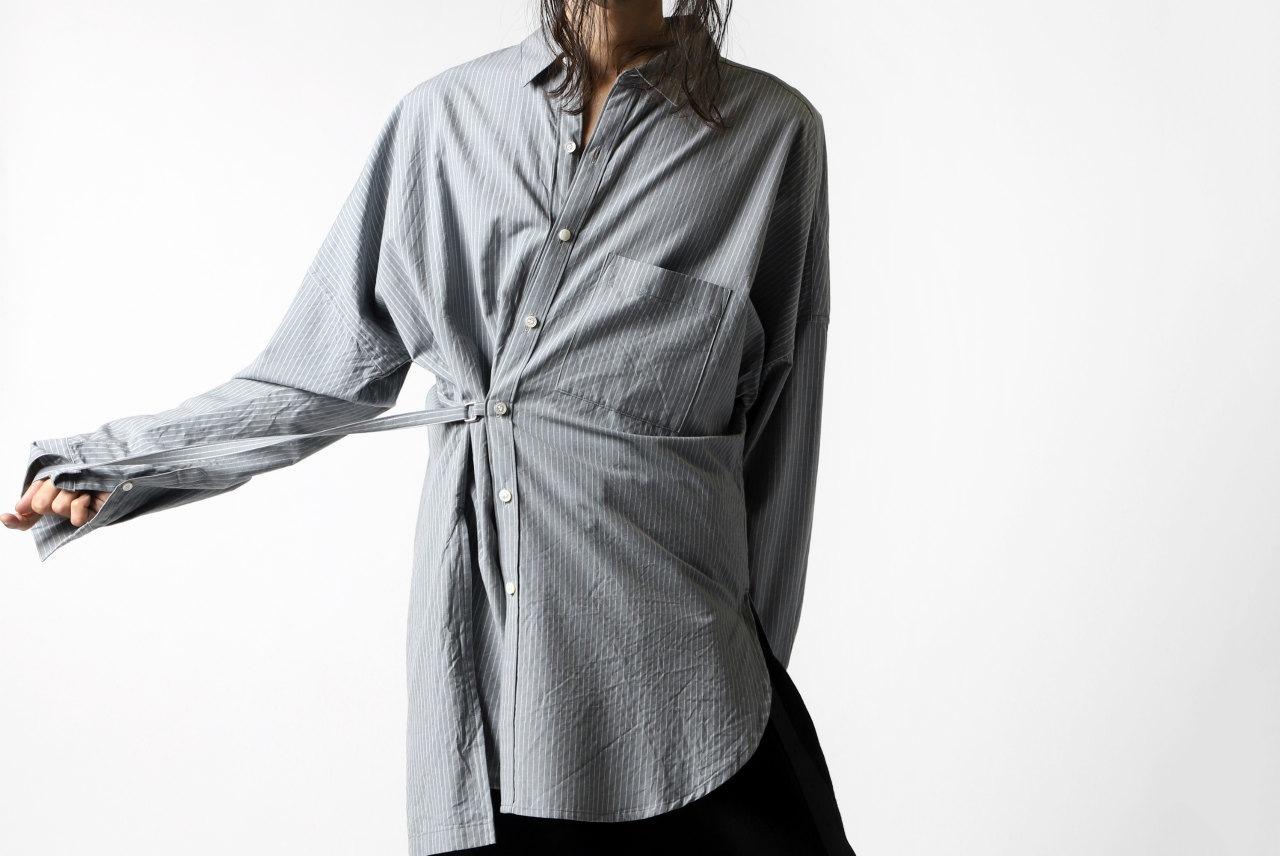 KAZUYUKI KUMAGAI Stripe Dolman Sleeve Shirt [C/W Lawn]