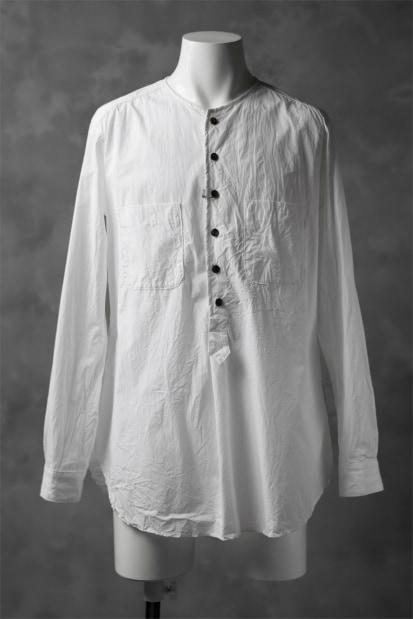 KLASICA SABRON HALF BUTTON PULLOVER SHIRT / TYPE-WRITER CLOTH