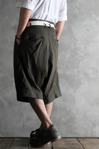 KLASICA GERALD-wv LOW CROTCH SHORTS / DOUBLE VOILE CLOTH (GARMENT WASHED)