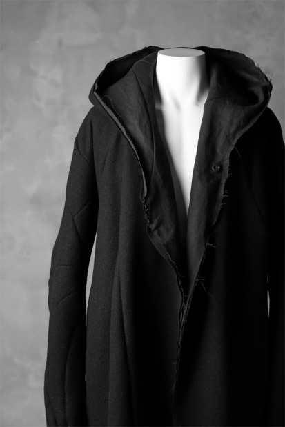 LEON EMANUEL BLANCK exclusive DISTORTION MEDIUM ROBE / HAIRY ALPACA & HEMP