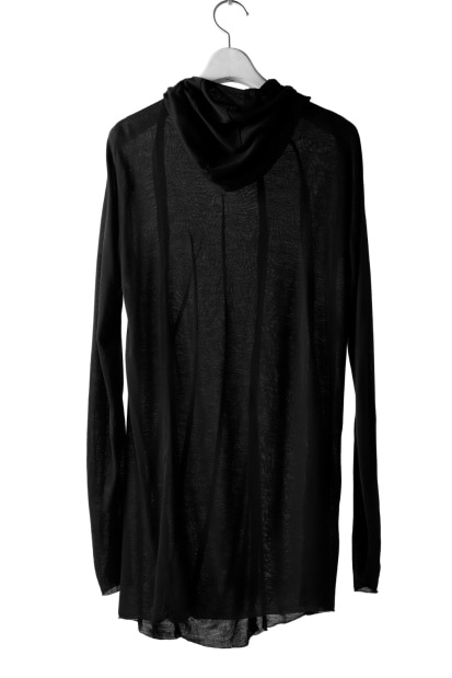 LEON EMANUEL BLANCK DISTORTION HOODY LONG SLEEVE TOP / BAMBOO JERSEY