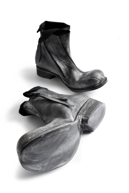 LEON EMANUEL BLANCK DISTORTION ANKLE BOOT / GUIDI HORSE WAX REVERSED
