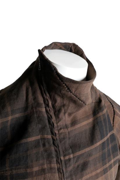 LEON EMANUEL BLANCK exclusive DISTORTION DRESS SHIRT / COLI CHECK
