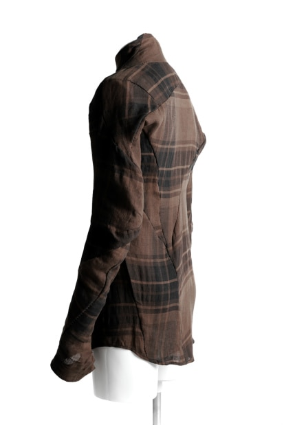 LEON EMANUEL BLANCK exclusive DISTORTION DRESS SHIRT / COLI CHECK
