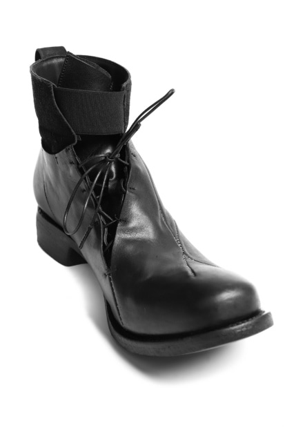 LEON EMANUEL BLANCK DISTORTION LACED MID BOOTS / GUIDI OILED HORSE
