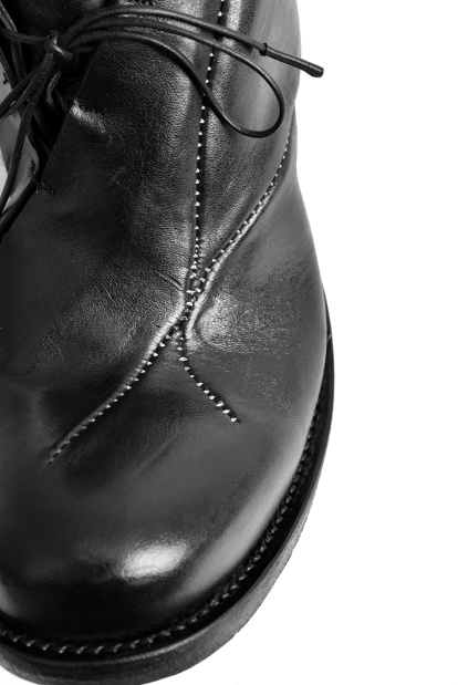 LEON EMANUEL BLANCK DISTORTION EXTENDED LACE UP DERBY / GUIDI HORSE OILED