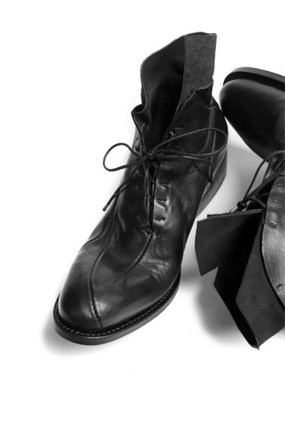 LEON EMANUEL BLANCK DISTORTION POINTED DERBY / GUIDI HORSE LEATHER