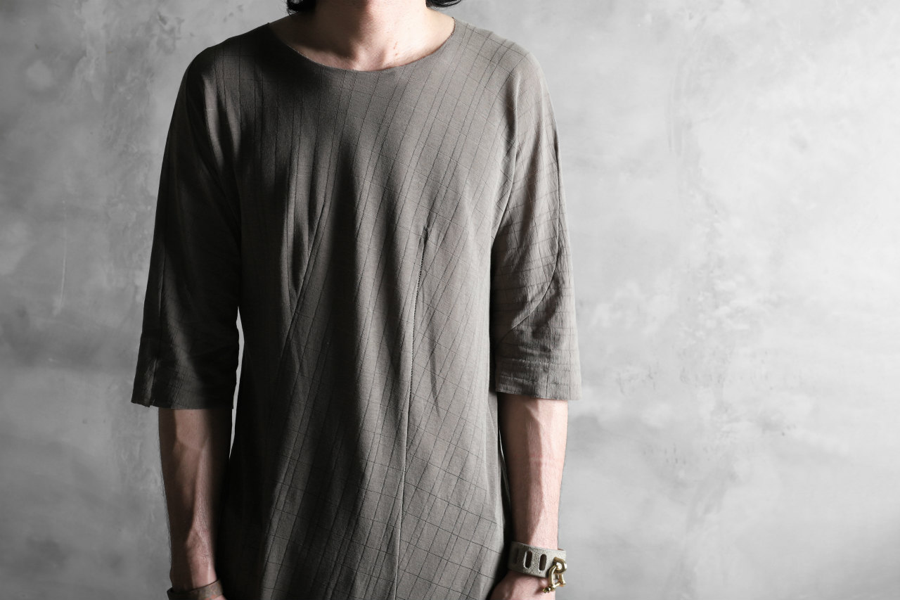 LEON EMANUEL BLANCK exclusive DISTORTION T SHIRT / MUD CHECK