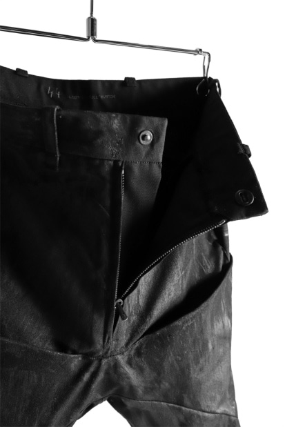 LEON EMANUEL BLANCK FORCED 6 POCKET LONG PANT / COATED CANVAS