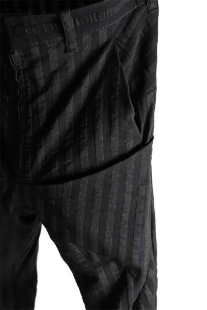 LEON EMANUEL BLANCK FORCED 6 POCKET ANKLE PANT / STRIPE STRETCH