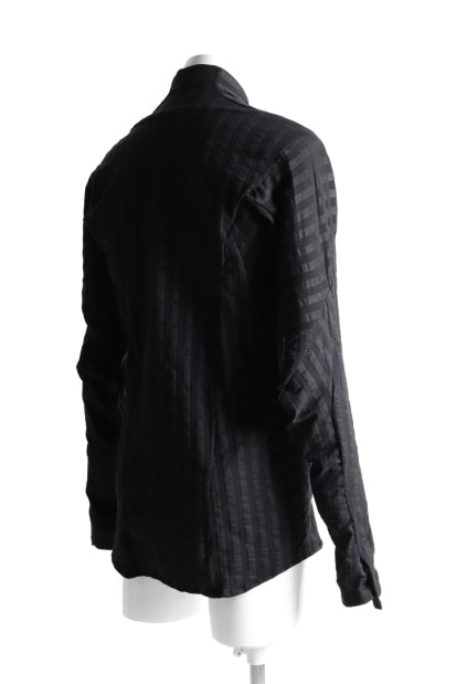 LEON EMANUEL BLANCK FORCED DRESS SHIRT / STRIPE STRETCH