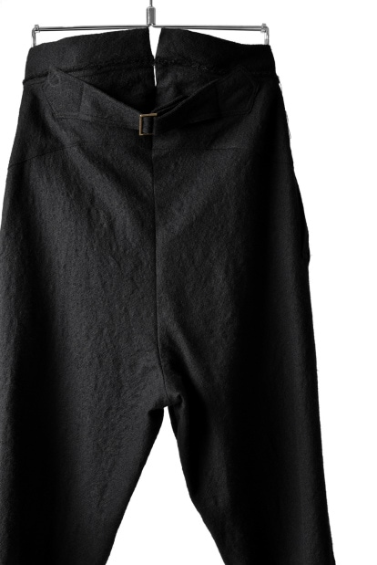 Marc Le bihan HIGH BACK TUCK DRESS TROUSERS with ADJUST BELT
