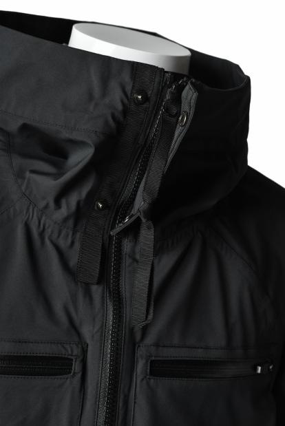 N/07 schoeller Pro-Tech System Hoodie Jacket / Black Grosgrain