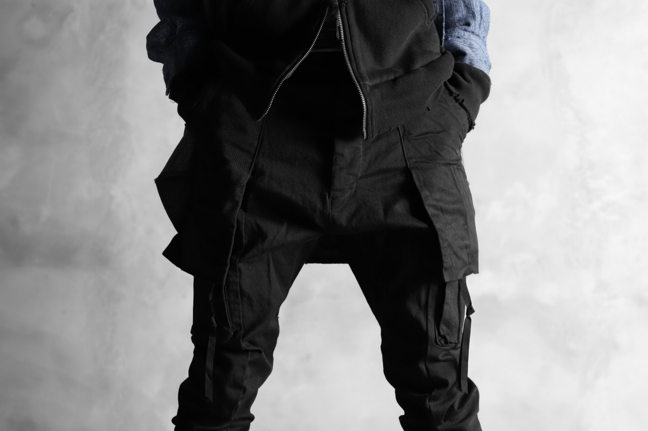 N/07 exclusive CONSTRUCTIVE LAYERED CARGO JODHPURS [ Stretch Weapom / Object Dye ]