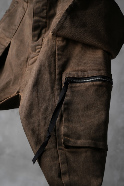 N/07 exclusive CONSTRUCTIVE LAYERED CARGO JODHPURS [ Stretch Weapon /Persimmon Dye ]