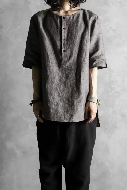 N/07 exclusive HENLEY NECK SHIRT [PURE LINEN]