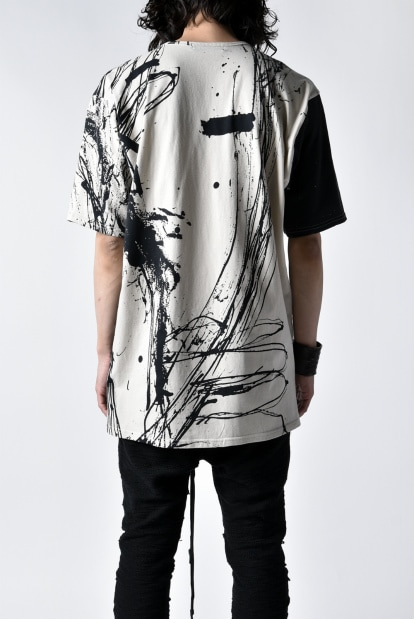nude:mm DISTORTION3 ART/GRAPHIC PRINT #124 REGULAR FIT TEE