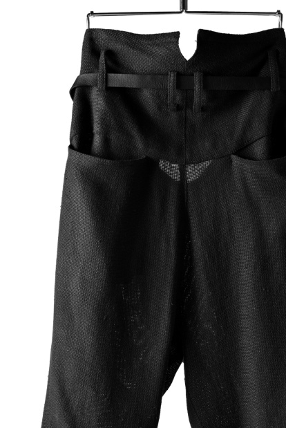 nude:masahiko maruyama DOUBLE TUCK 9/10 TROUSERS with LEATHER BELT