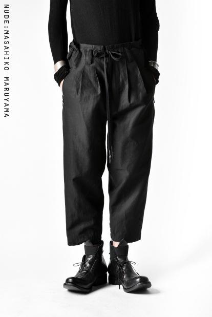 nude:masahiko maruyama TWO TUCKS CROPPED PANTS with VARIABLE HEM
