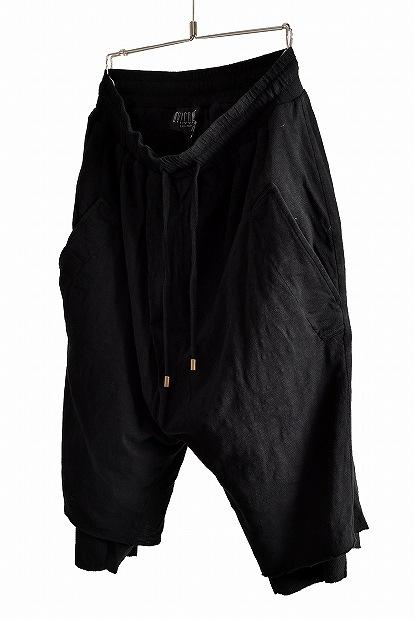 OVERCOME Combi Asymmetric Layered Shorts OC08U611 BLACK