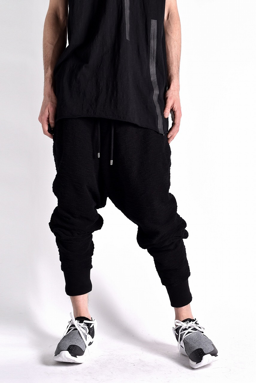 OVERCOME ASYMMETRIC BAUMWOLLE COTTON JOGGING PANTS
