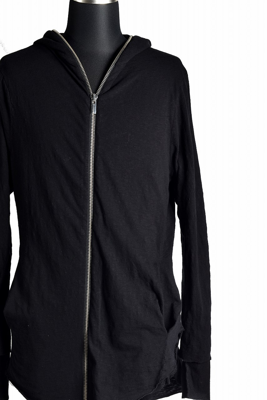 OVERCOME FULL ZIPPED BAUMWOLLE COTTON SWEAT PARKA with LAYERED SLEEVE