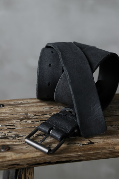 PAL OFFNER CALF LEATHER THICK BELT