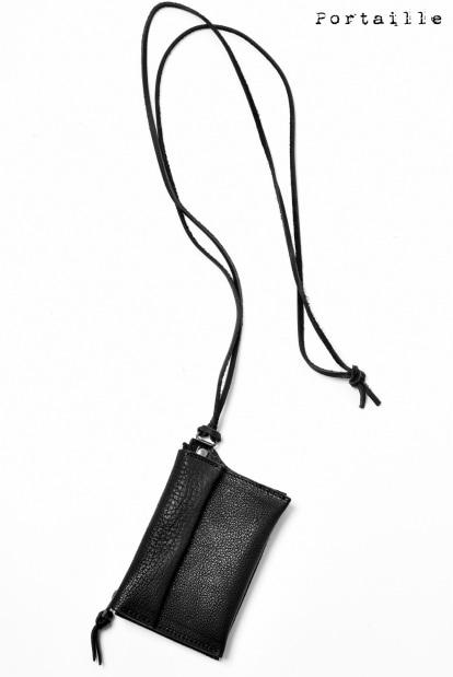 Portaille exclusive NECK COIN PURSE / BUFFALO WAXED