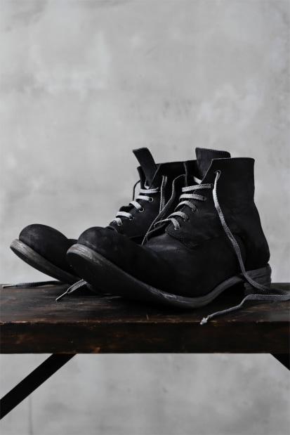 prtl one make Lace Up Boots (Heavy Oiled Reverse Cordovan)