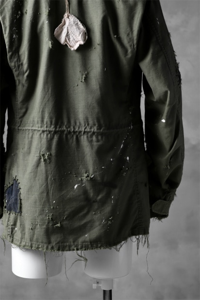 RESURRECTION HANDMADE boro x military vintage damage M-65 jacket