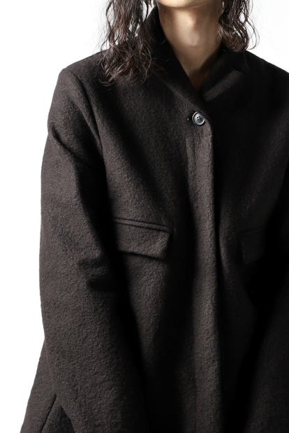 RUNDHOLZ CHESTERFIELD FLARE COAT / fulling wool