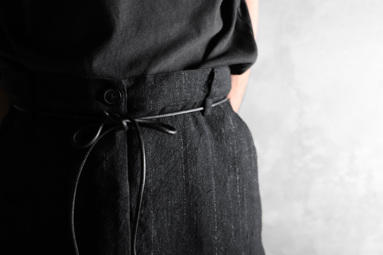 RUNDHOLZ STRIPE SARROUEL TROUSERS / switching fablic