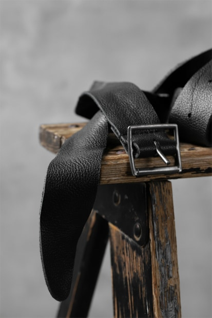 RUNDHOLZ THIN BELT / calf leather