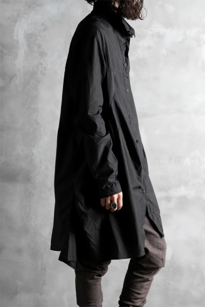 RUNDHOLZ DIP FLARE SILHOUETTE LONG SHIRT / black dyed