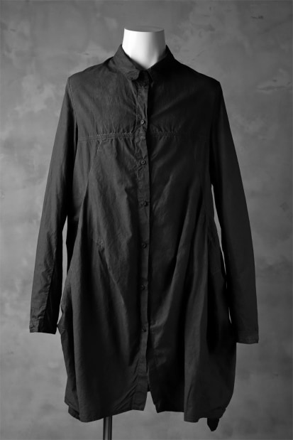 RUNDHOLZ DIP FLARE SILHOUETTE LONG SHIRT / carbon dyed