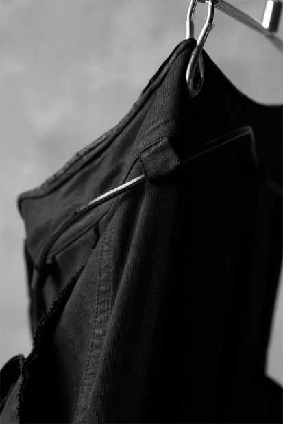 RUNDHOLZ DIP MILITARY POCKETS JODHPUR TROUSERS / black dyed