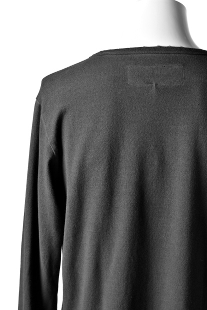 RUNDHOLZ DIP LIGHT SWEAT LONG SLEEVE CUT SEWN  / carbon dyed