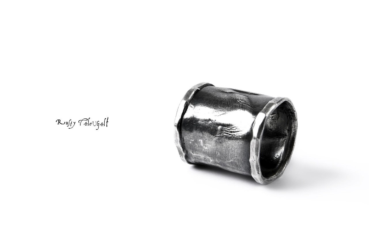 Rusty Thought FOLDS RING LONG