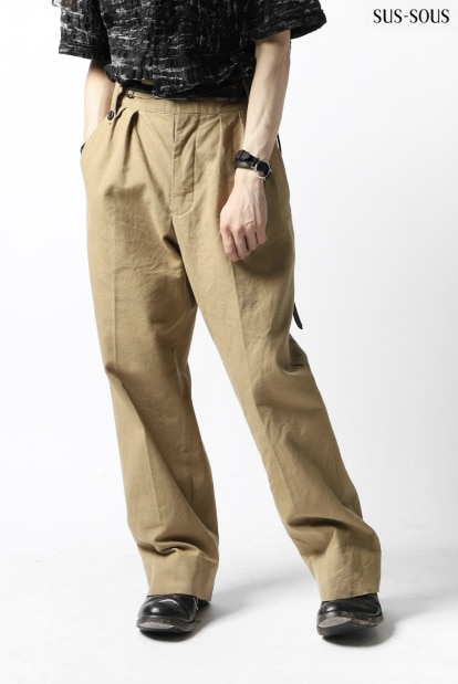 sus-sous gurkha trousers yarn dyed OX