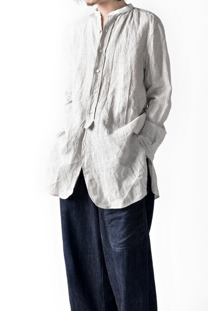 sus-sous officer stripe front fly shirt