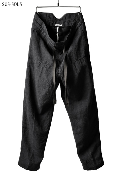 sus-sous high-back trousers W.D with oyagi