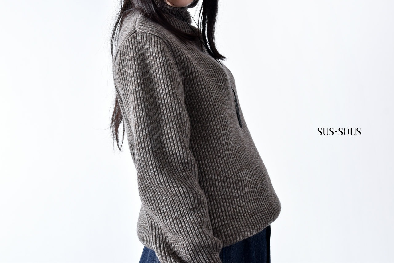 sus-sous fisher man turtle neck sweater with MARUKIN
